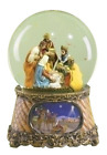 Three Kings Nativity Scene 6 Inch Musical Glitter Dome Plays Tune Little Drum