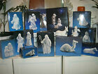AVON PORCELAIN NATIVITY HOLY FAMILY COLLECTIBLE SET 23 PCS FLYING ANGEL
