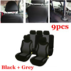 9x Full Set 5 seat Car SUV Seat Covers FrontRear Seat Back Head Rest Protector