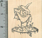 Halloween Witch Rubber Stamp Stomping Grapes Wine Series K34716 WM
