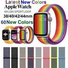 Nylon Sport Loop iWatch Band Strap For Apple Watch Series 44/42/40/38mm 4321