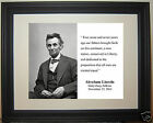 Abraham Lincoln 16th President 1863 Gettysburg Address Quote Framed Photo