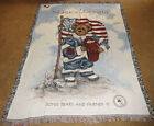 Boyds Bears Crumpleton Heroes Among Us Firefighter 9/11 Tapestry Afghan Throw