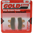 Front/Rear Disc Brake Pads for Italjet Pit Jet 125 (4T) 2007 125cc  By GOLDfren