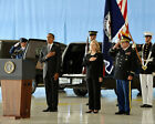 OBAMA AND CLINTON CEREMONY FOR BENGHAZI VICTIMS 16x20 SILVER HALIDE PHOTO PRINT