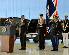 OBAMA AND CLINTON CEREMONY FOR BENGHAZI VICTIMS 8x10 SILVER HALIDE PHOTO PRINT