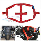 Red Polyester Motorcycle ATV Rear Wheel Handlebar Transport Bar Tie Down Strap*1