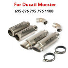 For Ducati Monster 696 695 795 796 1100 Mid Link Pipe Exhaust Tips Muffler Pipe