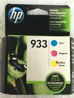 HP 933 Color Ink Cartridges Combo Pack Genuine New