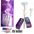 Galaxy Rose Flower Valentines Day Lovers Gift Romantic Crystal Rose With Box