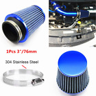 Car Auto Modified High Flow 76mm 3 Inlet Mushroom Air Intake Filter Cleaner Kit