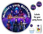DISNEY DESCENDANTS 3 BIRTHDAY PARTY FAVORS STICKERS LABELS FOR YOUR FAVORS