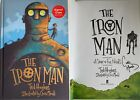 TED HUGHES THE IRON MAN SIGNED AUTOGRAPHED BY ILLUSTRATOR CHRIS MOULD HARDBACK