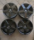 VOLVO V70 S60 OEM PEGASUS R 17x8 RESTORED Metallic BLACK Wheels Rim 01 09