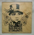 Topper Altered Art Doll Rubber Stamp Collage Butterfly Wings Face Stampington