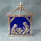 Pewter Stained Glass Nativity Tealight Holy Family Made in Canada
