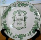 10 Inch Gourment Plate Rhythm Homer Laughlin by Nelson Lebo Co. N.J. Mid Century