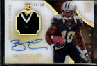 BRANDIN COOKS 2014 IMMACULATE ACETATE ROOKIE PATCH AUTO # 10 AUTOGRAPH RAMS