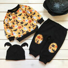 Halloween Toddler Kids Baby Girl Boy Sweatshirts Top Pants Clothes Set Tracksuit