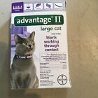 BAYER ADVANTAGE II FLEA CONTROL FOR CATS OVER 9 LBS 6 PACK 6 MONTH SUPPLY NEW