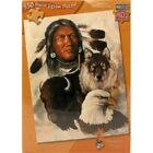 Ceaco Master Pieces One Spirit 550 Piece Jigsaw Puzzle Native American Wolf