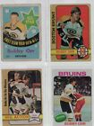 Bobby Orr 1969-70 O-Pee-Chee All-Star #212 + 1972-73 In Action #58, 129 1975-76