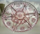 RARE Anchor Hocking Early American Prescut EAPC Pink 7 Pt Divided Relish Platter