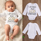 US STOCK Newborn Baby Clothes Boy Girl Kids Bodysuit Funny Cute Kawaii Outfits