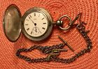 Silver Waltham Key Wind Large Pocket Watch