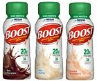 Boost 24 Pack High Protein Complete Nutritional Drink 8 oz Bottles Flavor Choice