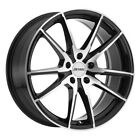 4 New 19x8 Petrol P0a Gloss Black Machine Wheelrim 5x112 Et32 5-112 19-8