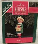 1992  HALLMARK - SISTER - BASKET OPENS AND KITTY PEEKS OUT - MINT IN BOX