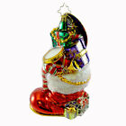 Christopher Radko GIFTS TO BOOT Glass Ornament Santa Drum