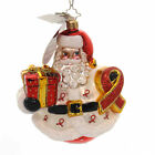 Christopher Radko CLAUS FOR A CURE Glass Ornament Aids Charity