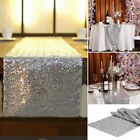 Silver Glitter Sequin Table Runners Cloth Wedding Venue Baby Shower Party Decor