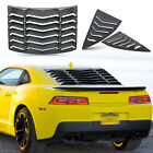 Quarter Side Rear Window Louver Scoop Accessories fit Chevy Camaro 2010 2015 ABS