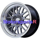 XXR 531 Chromium Black 17 x 8 9 +35 Staggered Wheels 5x1143 Fit Nissan 240sx SE