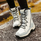 Womens' Winter Boots Fur Lined Warm Waterproof Lace Up Ski Snow Shoes Size 36-42