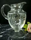 BLOCK Crystal Glass Pitcher Hand Cut with Big Flat Base Footed