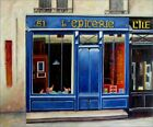 Quality Hand Painted Oil Painting Storefront in Blue 20x24in