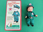 "Texaco Station Attendant Collector Doll New In Original Tin Box 13"" Reproduction"