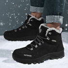 Mens Winter Snow Boots Warm Cotton Shoes Outdoor Hiking Sneaker Athletic Size 46