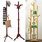 Wooden Standing High Grade Hat Coat Rack Jacket Bag Hanger Tree Hanging Stand US