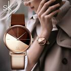 SK Luxury Leather Watches Women Creative Fashion Quartz Watches For Reloj Mujer