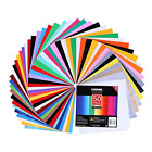 Transfer Vinyl Htv Sheets 50 Pack Assorted Color Sheets For Cricut Craft