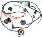 50CC 125CC Car Truck ATV Complete Wiring Harness CDI STATOR 6 Coil Pole Ignition