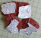 4 Unmounted Rubber Stamps Cute Kids In HALLOWEEN Costumes