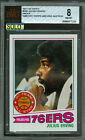1977-78 TOPPS # 100 JULIUS ERVING PROOF BGS 8 SOLO FINEST GRADED