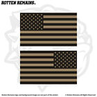 American Desert Tan Subdued Flag Decal SET USA United States Sticker EVM