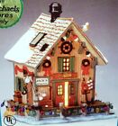 LEMAX VILLAGE - PLYMOUTH CORNERS - JACK'S FISHING SHACK 25701 LIGHTED BUILDING